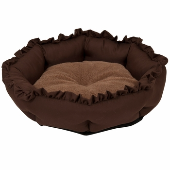 Aspen Pet Ruffled Round Bed 18""