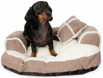 "Aspen Pet Sofa Bed With Bonus Pillow (20"" x 16"") - Assorted Colors"