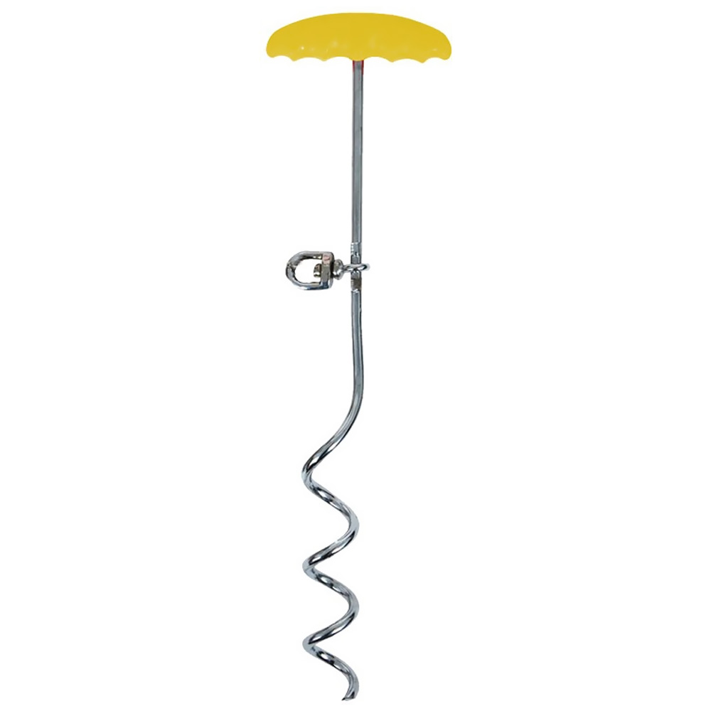 """Aspen Pet Stake Large 18"""" Easyturn Yellow with 20 Feet Tieout"""