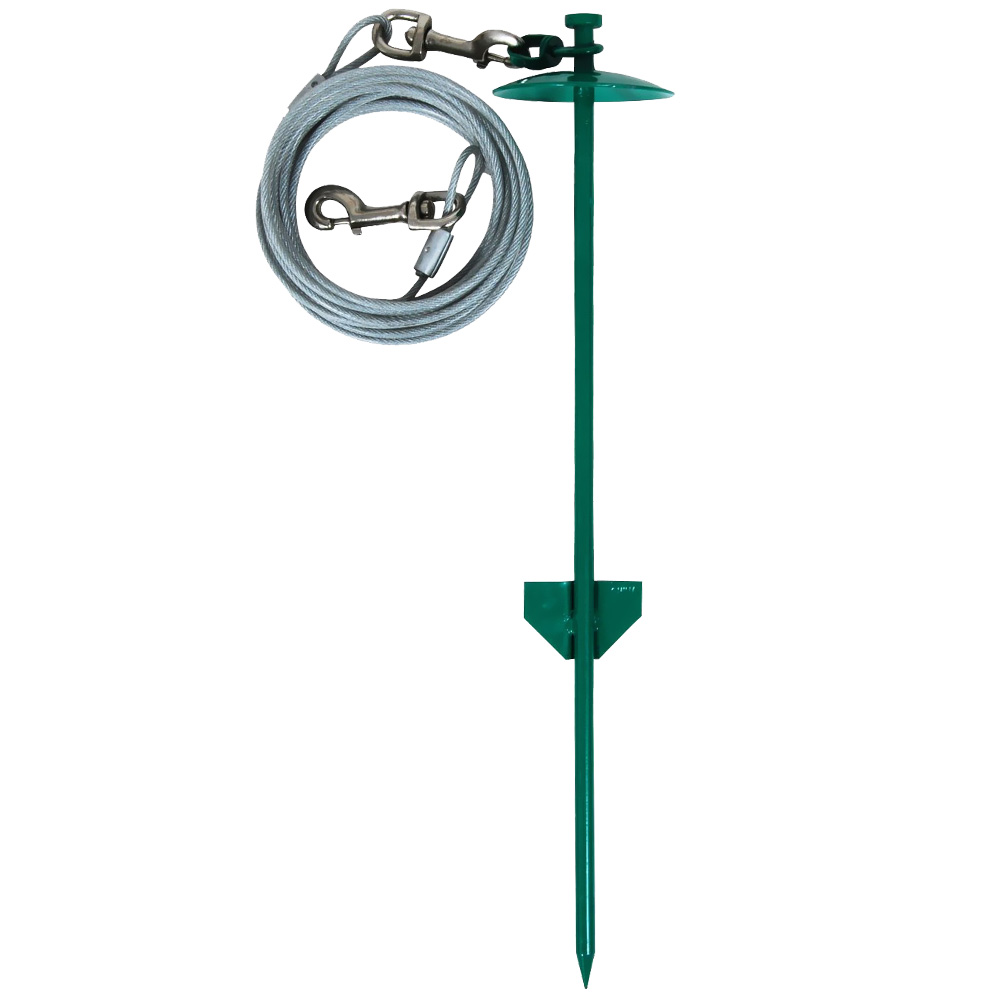 """Aspen Pet Stake Large 20"""" Dome with 20 Feet Tieout"""