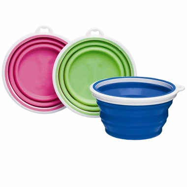 Bamboo Silicone Travel Bowl 1 Cup - Assorted