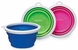 Bamboo Silicone Travel Bowl 3 Cup - Assorted