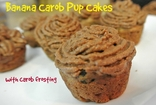 Banana Carob Pupcakes Recipe for Dogs