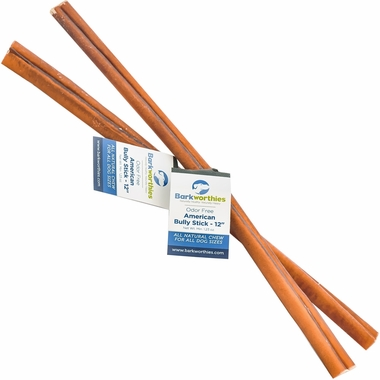 barkworthies odor free american bully stick double cut 12. Black Bedroom Furniture Sets. Home Design Ideas