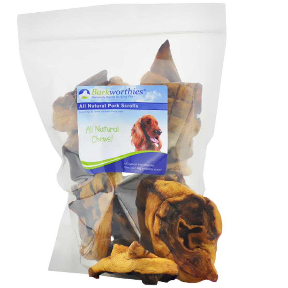 Barkworthies Pork Scroll Treats (8 Pack)