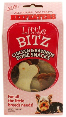 Beefeaters Little Bitz Chicken & Rawhide Bone Shape Snacks (3 oz)