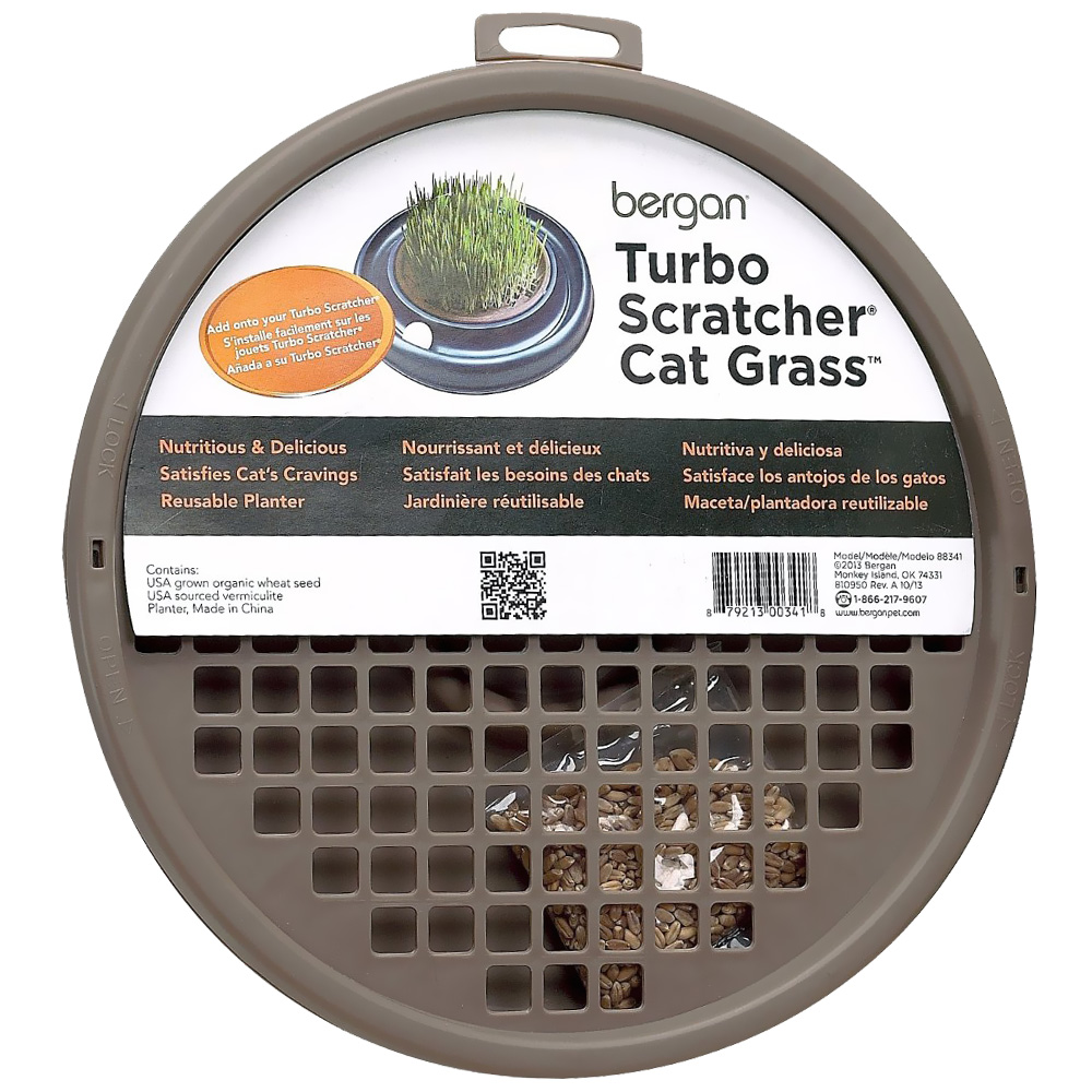 Bergan® Turbo Scratcher® & Star Chaser Cat Grass™