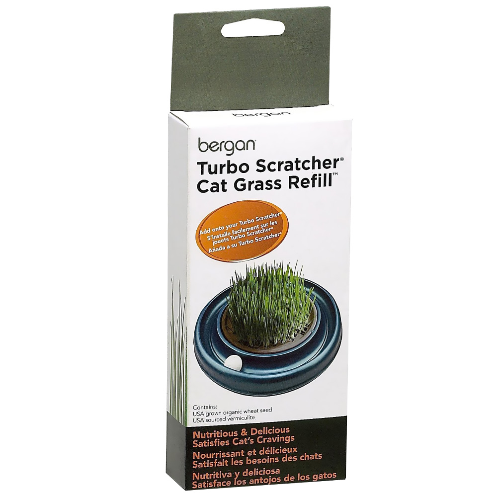 Bergan® Turbo Scratcher® & Star Chaser Cat Grass™ Refill
