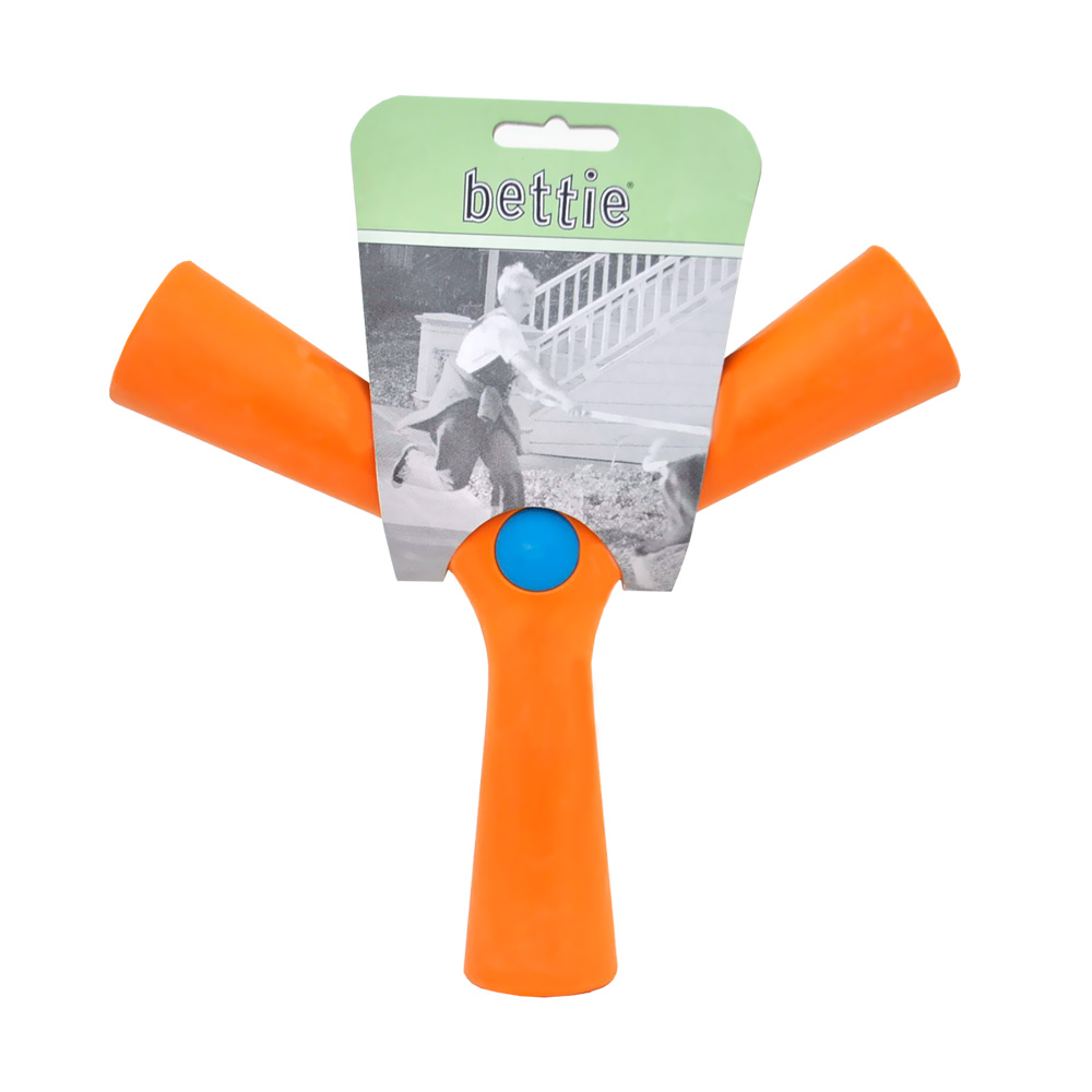 Bettie Fetch Toy Slobber and Spice (ORANGE) - SMALL