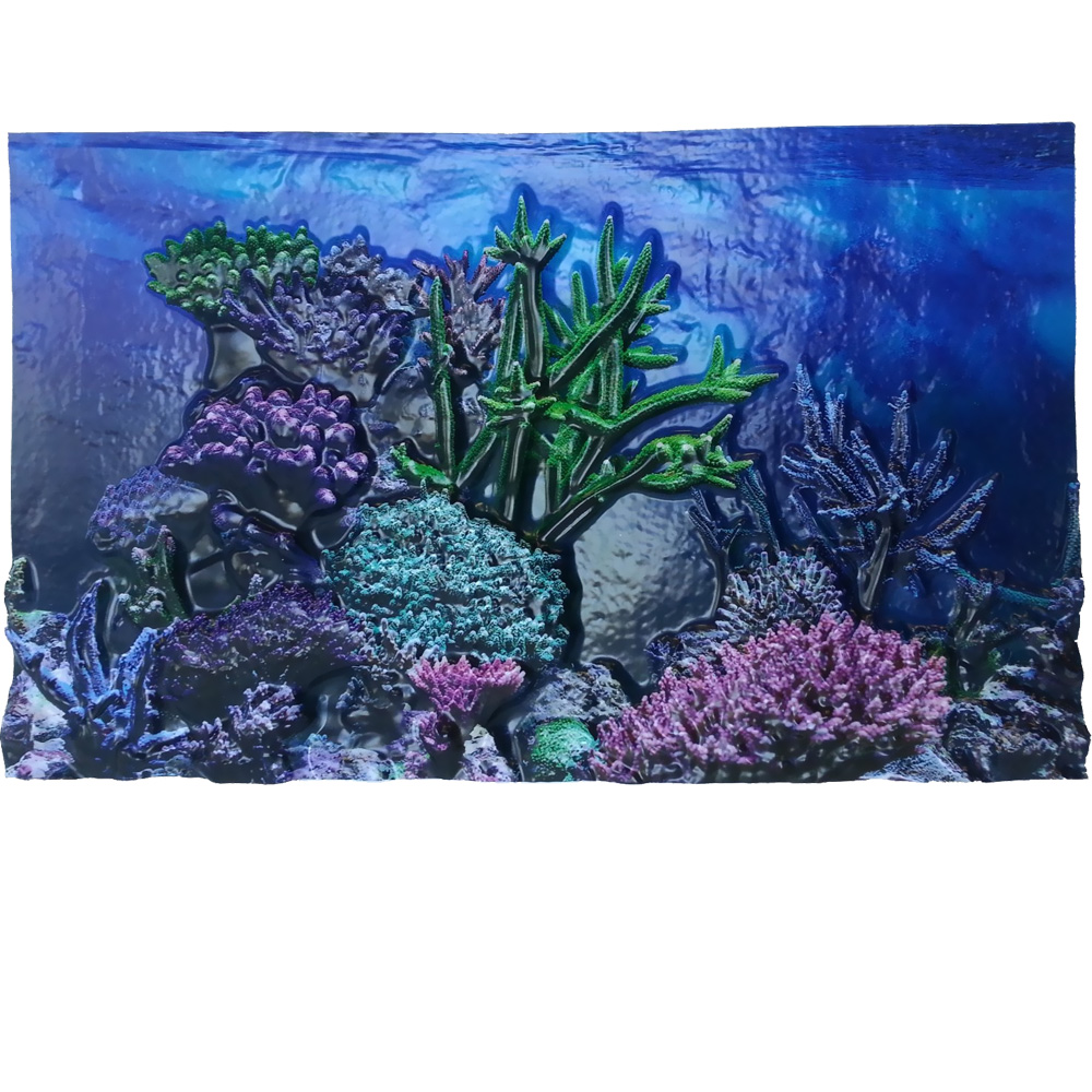"""BioBubble 3D Background Coral Reef 10 Gallons (20"""" x 10"""")"""