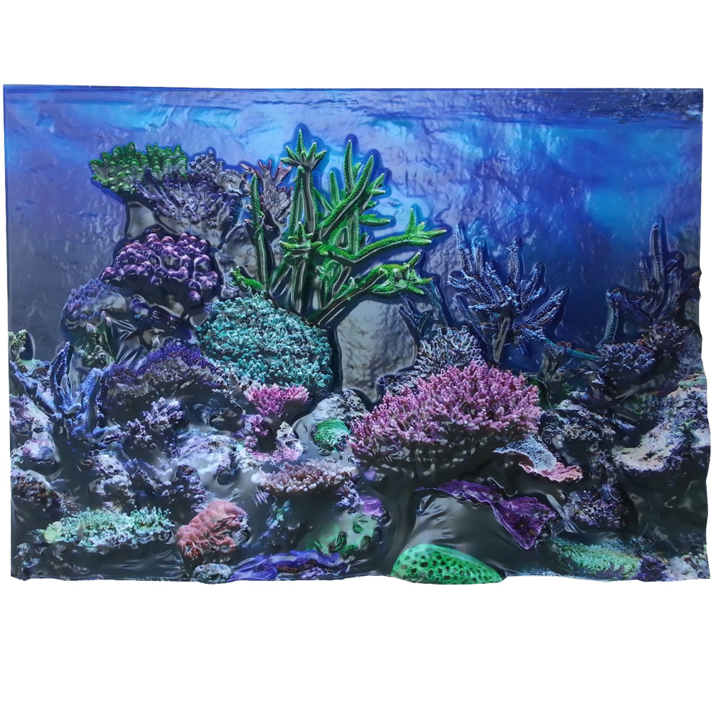 """BioBubble 3D Background Coral Reef 20 Gallons (24"""" x 12"""")"""