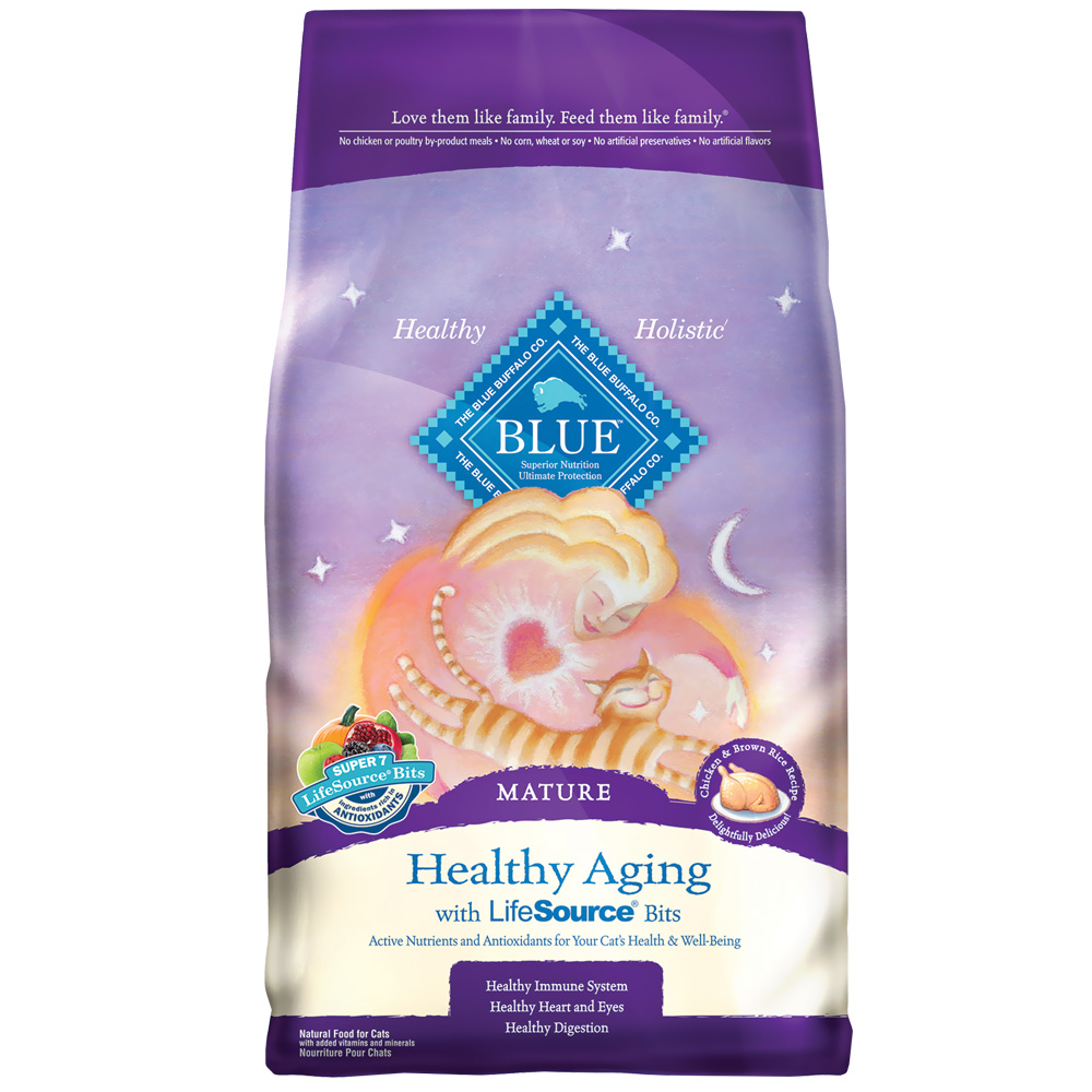 Blue Buffalo Healthy Aging Mature Chicken & Brown Rice Recipe (7 lb)