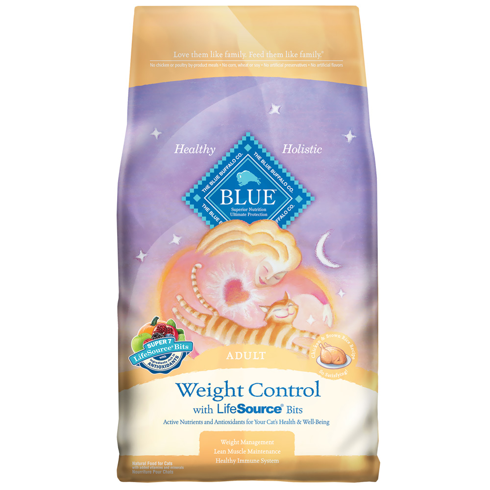 Blue Buffalo Healthy Living Weight Control Chicken & Brown Rice Recipe for Cats (7 lb)