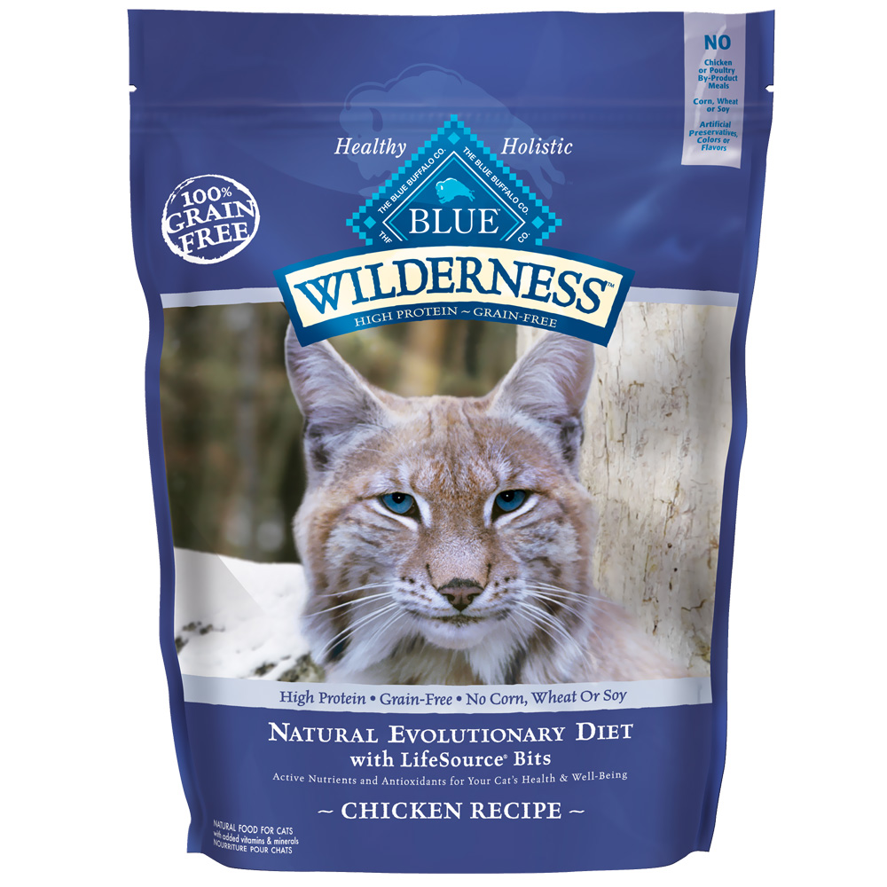 Blue Buffalo Wilderness Grain for Cats - Free Chicken Recipe for Cats (12 lb)