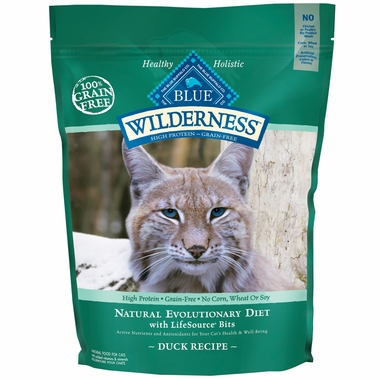 Blue Buffalo Wilderness Grain-Free Duck Recipe for Adult Cats (5 lb)