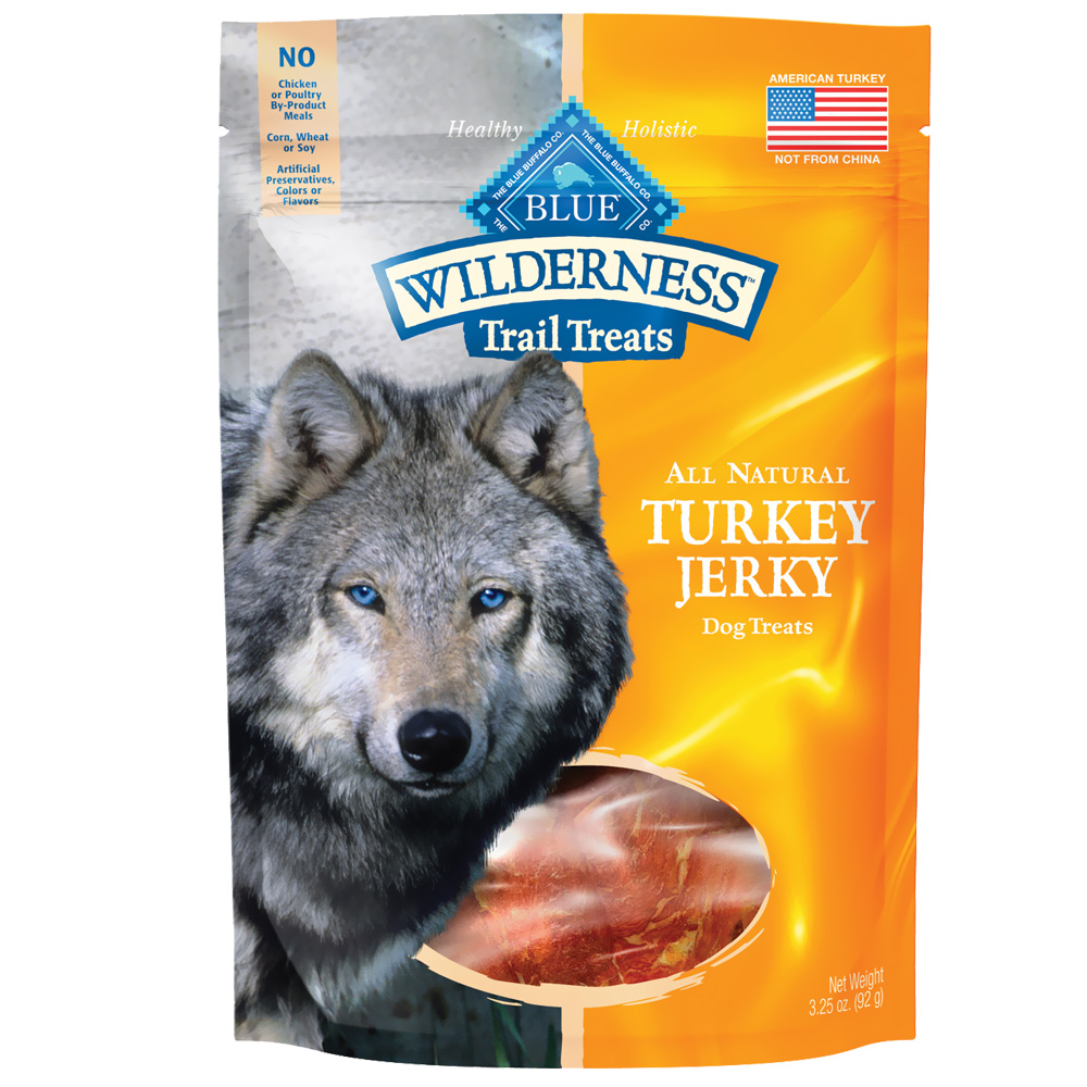 Blue Buffalo Wilderness Grain-Free Jerky Treats - Turkey (3.25 oz)