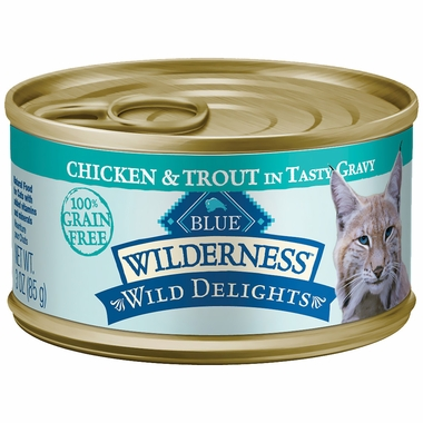 Blue Buffalo Wilderness Grain-Free Wild Delights Chicken & Trout Recipe (24x3oz)
