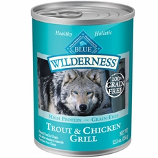 Blue Buffalo Wilderness Trout & Chicken (12x12.5 oz)