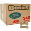 BONIES (BULK BOX) Natural Dental Bones (240 Mini Bones)