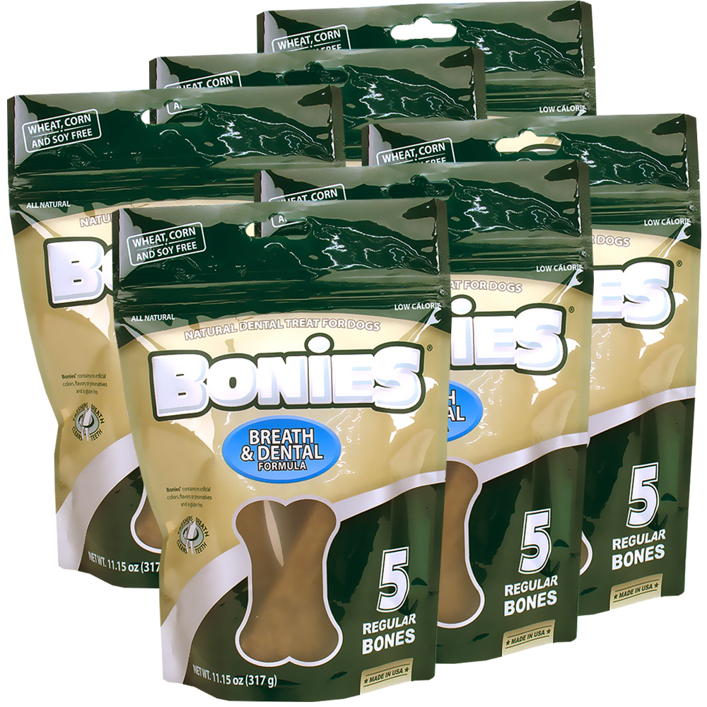 BONIES Natural Dental Health Multi-Pack REGULAR 6-PACK (30 Bones)