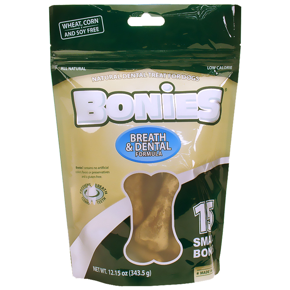 BONIES® Natural Dental Formula Multi-Pack SMALL (15 Bones / 12.15 oz)