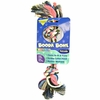 Booda 2 Knot Multi-Color Rope Bone - Small