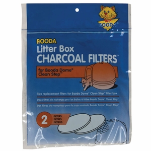 Booda Dome Clean Step Litter Box Charcoal Filters 2 Pack