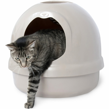 Booda Dome Covered Cat Litter Box Titanium