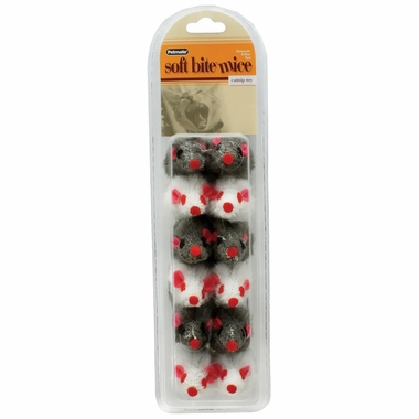 Petmate Soft Bite Fur Catnip Mice - Small (12 pack)
