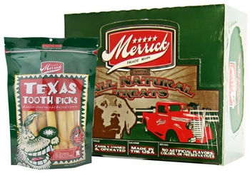 Box of 12 Merrick's Texas Toothpicks Value Pack (6.5 oz bag)