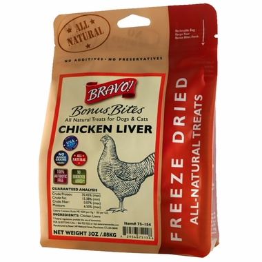Bravo! Bonus Bite Chicken Liver (3 oz)