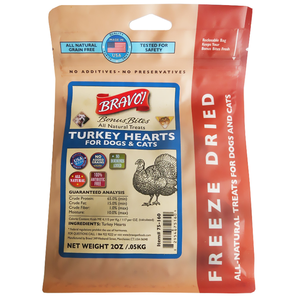 Bravo! Bonus Bite Turkey Hearts (2 oz)
