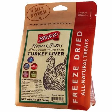 Bravo! Bonus Bite Turkey Liver (3 oz)
