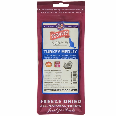 Bravo! Healthy Medley Turkey for Cats (1.25 oz)