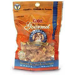 Cadet Gourmet Sweet Potato & Chicken Wrap Dog Treats (4 oz)