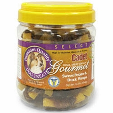 Cadet Gourmet Sweet Potato & Duck Wraps Dog Treats (16 oz)