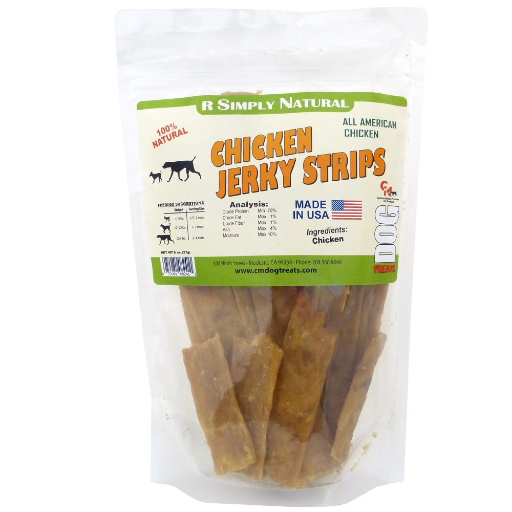 Carlson Morgan R Simply Natural Chicken Jerky Strips (8 oz)