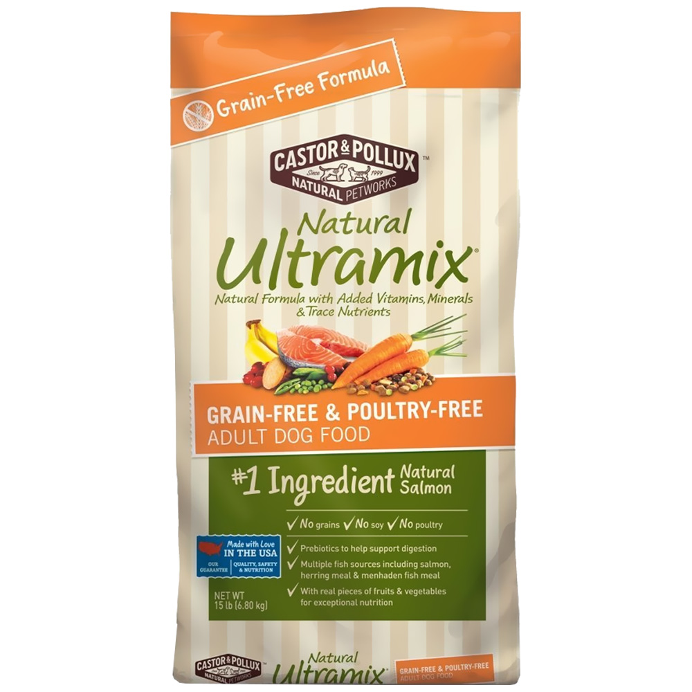 Castor & Pollux Natural Ultramix Grain-Free and Poultry-Free Adult Dry Dog Food (15 lbs)