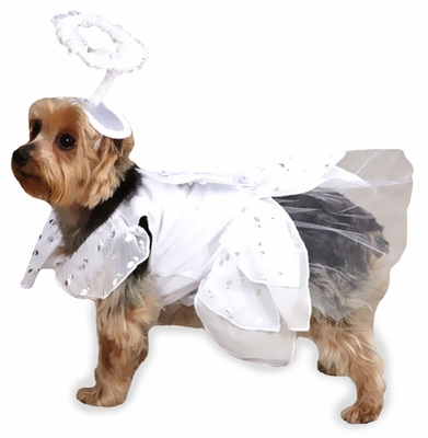 Casual Canine Angel Paws Costume - SMALL