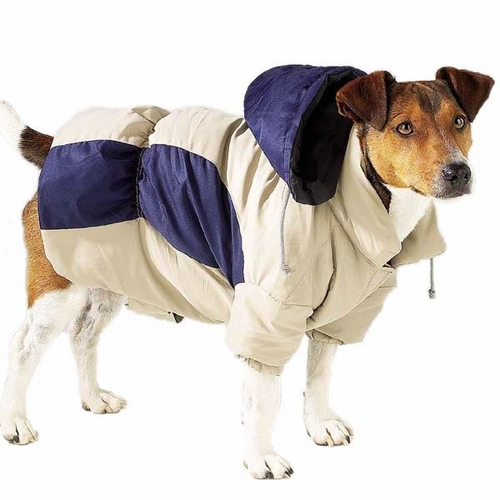 Casual Canine Base Camp Parkas - Blue Beige
