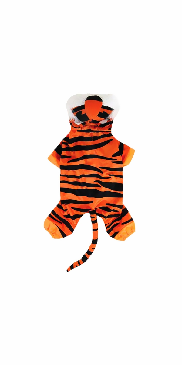 Casual Canine Bengal Buddy Costume Orange - MEDIUM