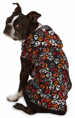 Casual Canine Bone Heads Waffle Hoodie - MEDIUM