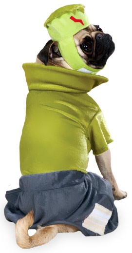Casual Canine Frankenhound Costume Green - SMALL