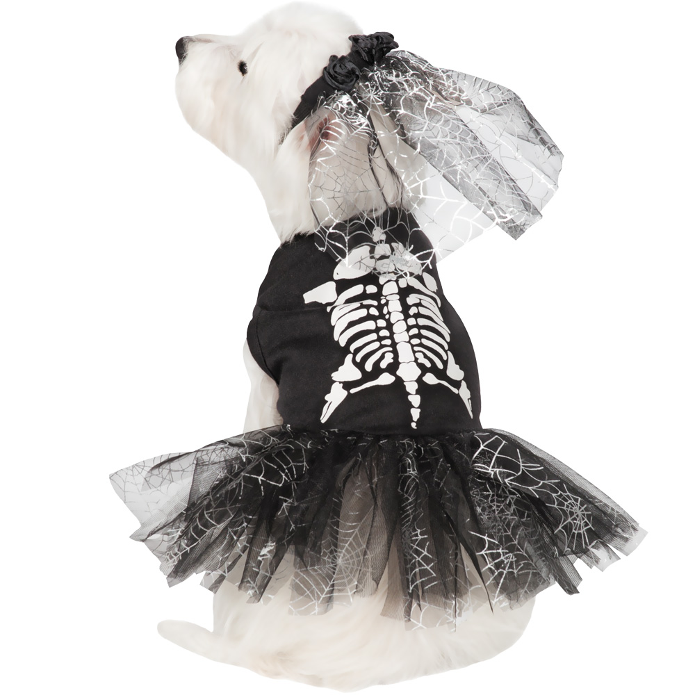Casual Canine Glow Skeleton Zombie Dog Costume - XSmall
