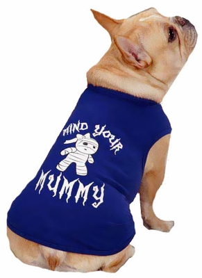 Casual Canine Mind Your Mummy Tee Blue - LARGE
