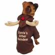 Casual Canine Reindeer Hoodie Brown - SMALL