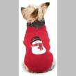 Casual Canine Snowman Sweater Red