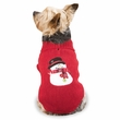 Casual Canine Snowman Sweaters Red