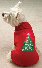 Casual Canine Twinkling Star Holiday Sweaters
