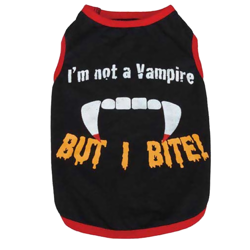 Casual Canine Vampire Tee Black - XSMALL